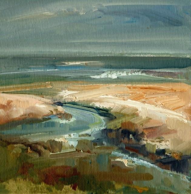 """Sea View"" original fine art by Anne Wood"