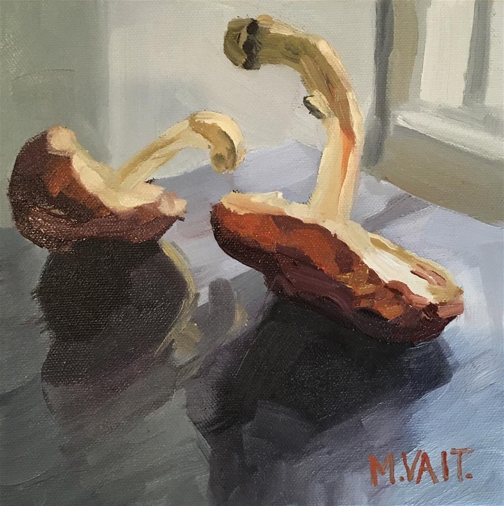 """Mushrooms"" original fine art by Milda Vaitiekunaite"