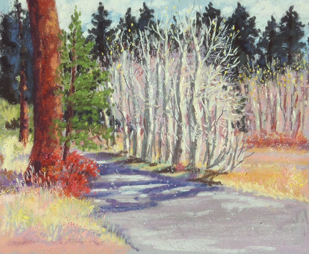 """Tahoe Aspens, Late Fall"" original fine art by Rhett Regina Owings"