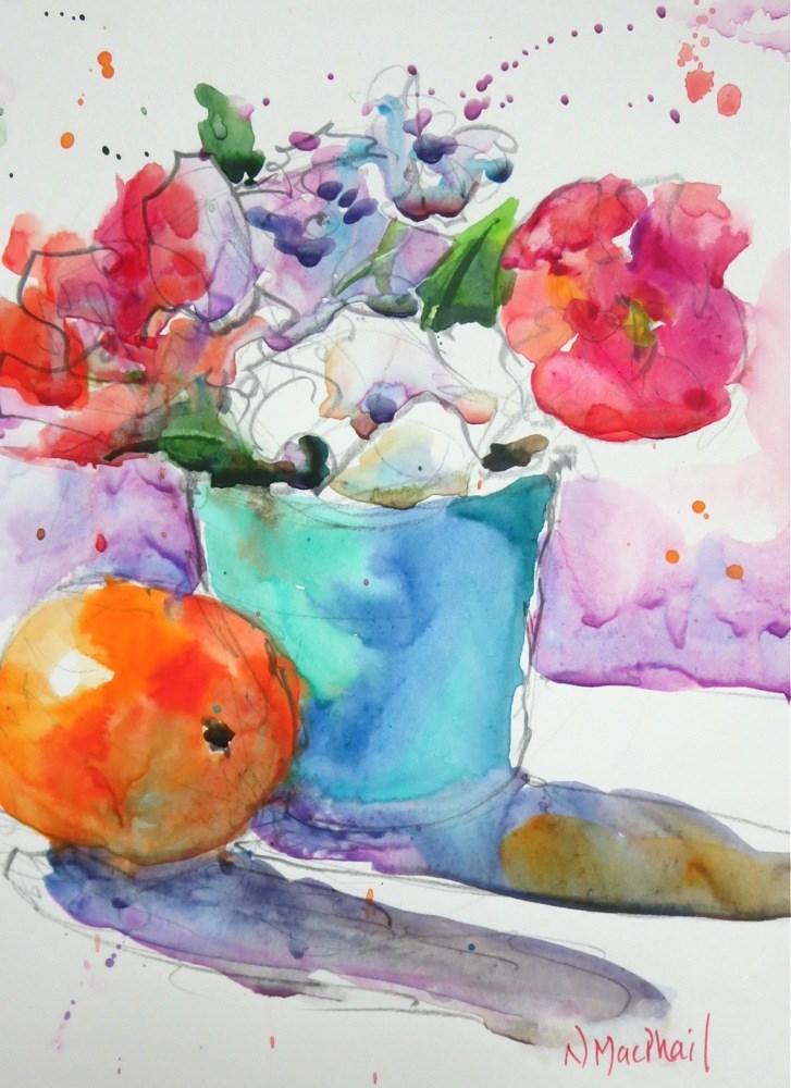 """splash and splatter"" original fine art by Nora MacPhail"