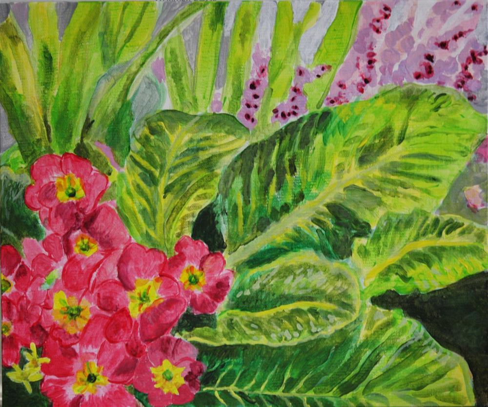 """""""Primroses"""" original fine art by Terri-Anne Barge"""