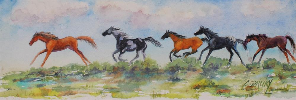 """Running Wild"" original fine art by Colleen Drury"