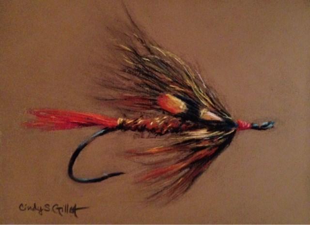 """""""Fly 2 - Brown Sugar"""" original fine art by Cindy Gillett"""