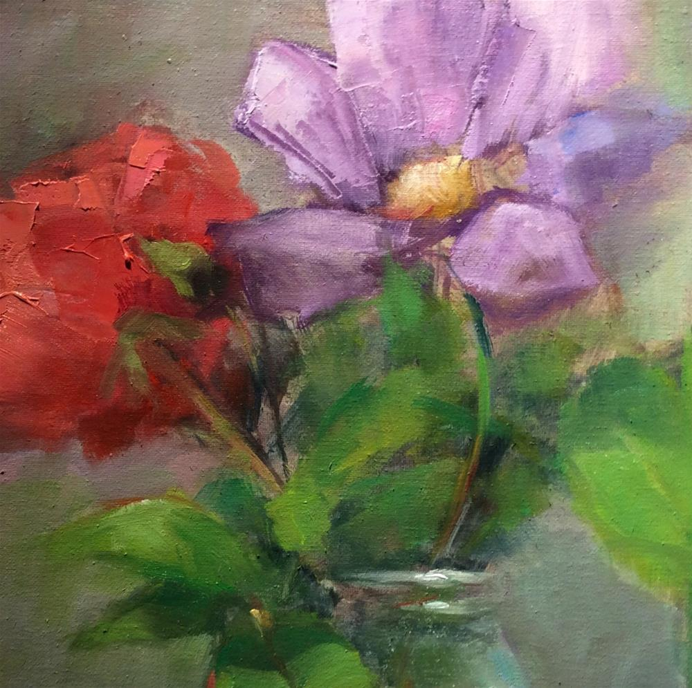 """Picked from Ginny's garden"" original fine art by Carol Josefiak"
