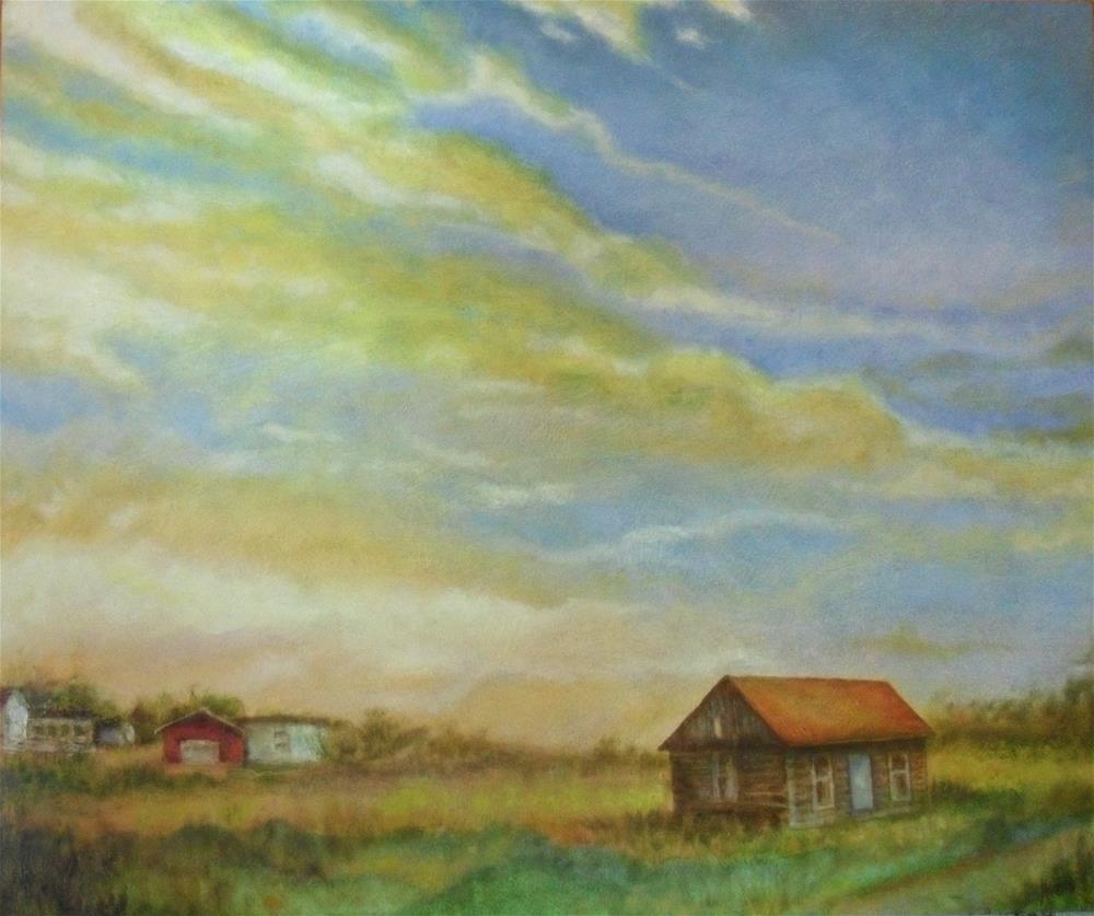 """""""Spacious Skies"""" original fine art by Karen Roncari"""
