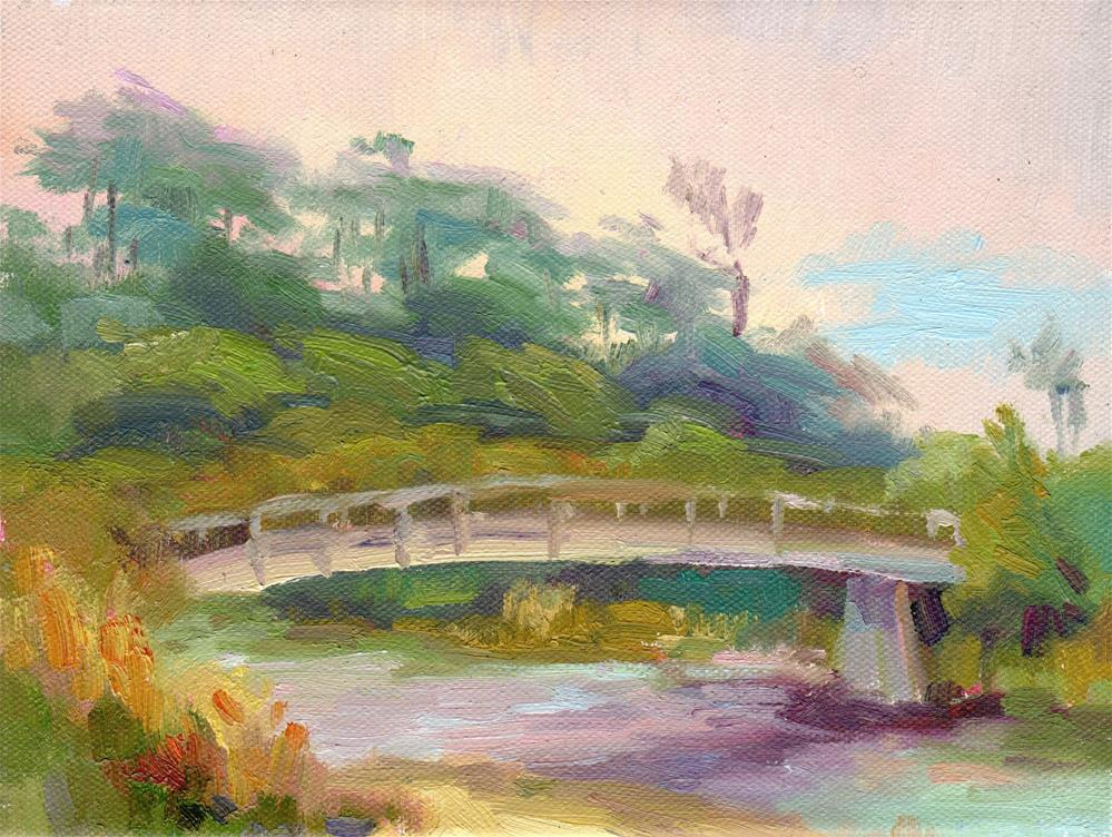 """ONA CREEK BRIDGE"" original fine art by Karen E Lewis"