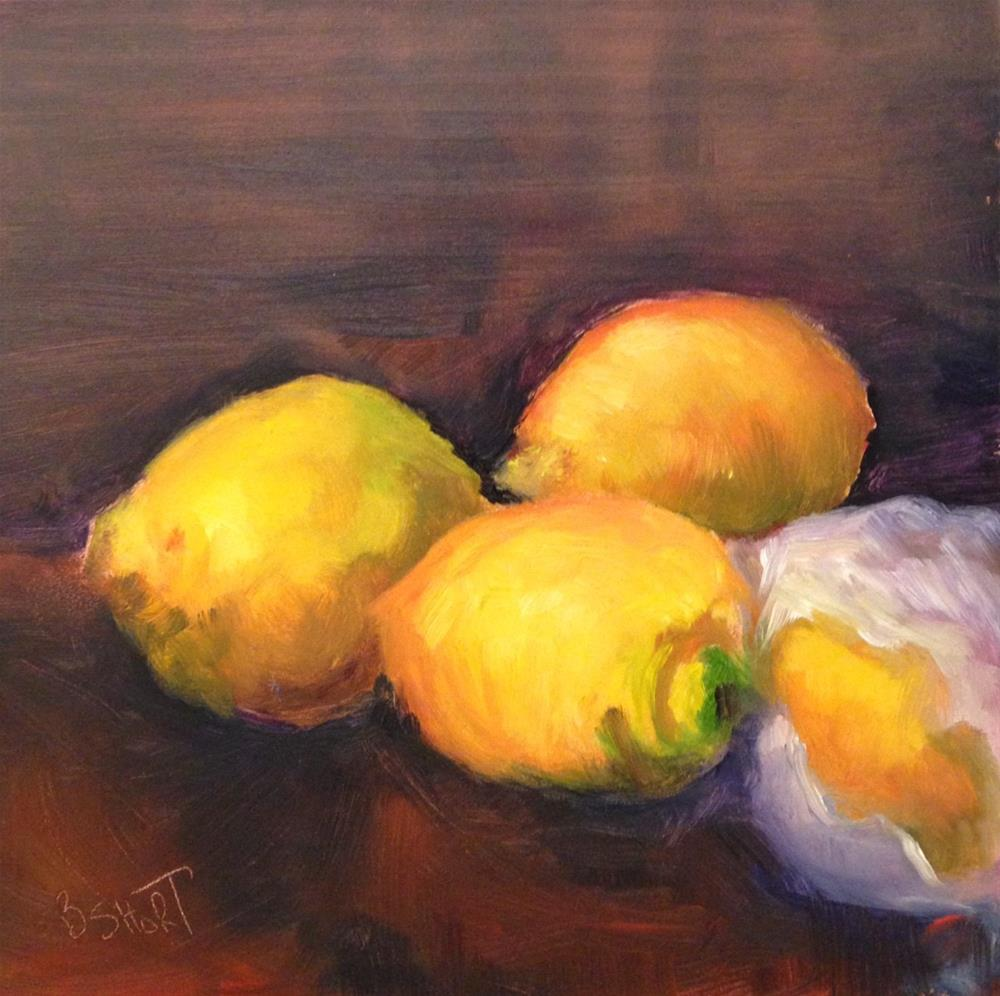 """day9; lemons"" original fine art by Brenda Short"