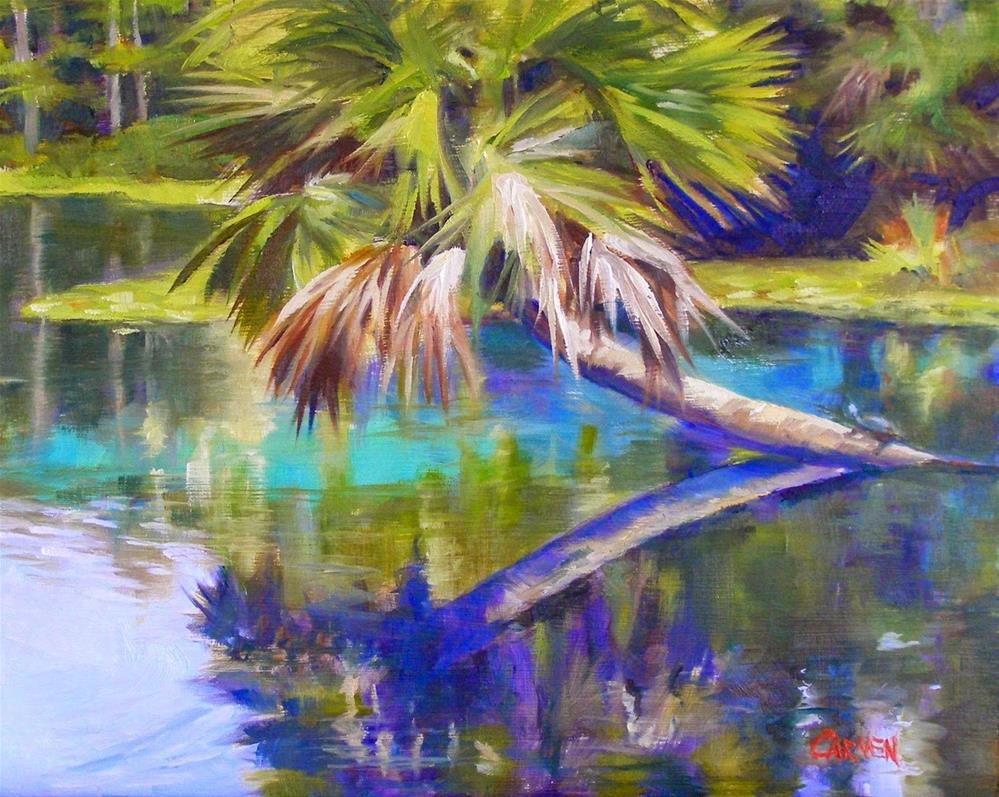 """Silver River, 10x8 Original Oil Painting on Canvas Panel"" original fine art by Carmen Beecher"