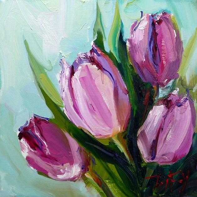 """Die Tulpen"" original fine art by Jurij Frey"