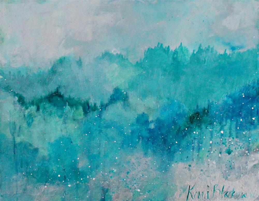"""Trees Like a Sea "" original fine art by Kerri Blackman"