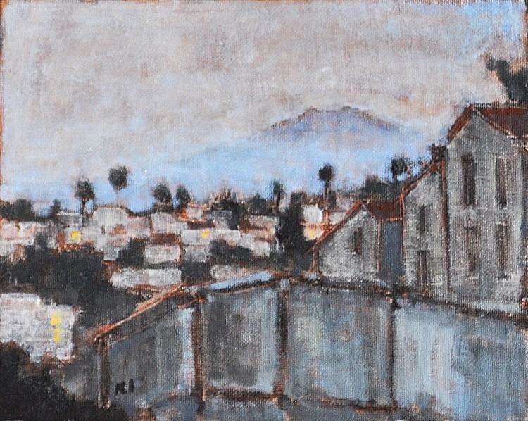 """Mist Rising in Hillcrest, San Diego"" original fine art by Kevin Inman"