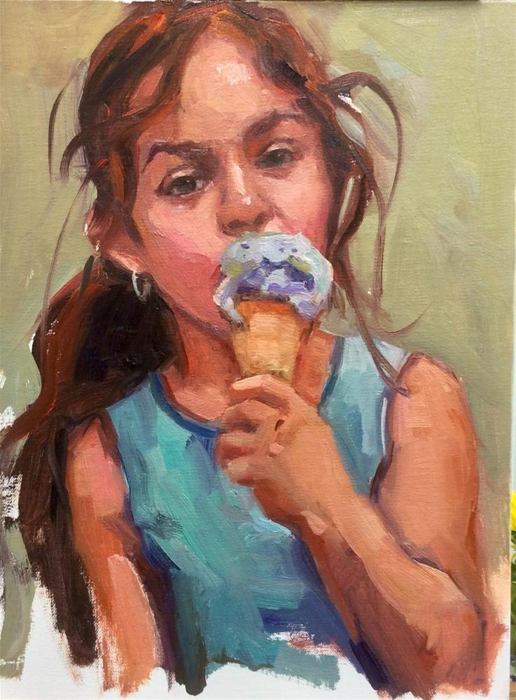 """""""I Scream, You Scream, We all Scream for Ice Cream"""" original fine art by Laurie Johnson Lepkowska"""