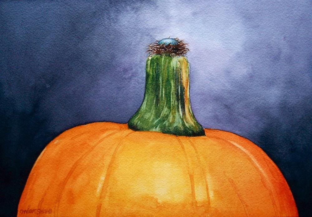 """"""" THE PUMPKIN NEST """" original fine art by Dwight Smith"""