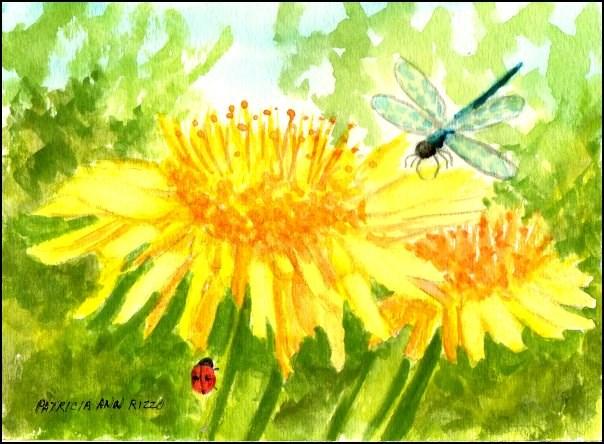 """""""I Love Dandelions"""" original fine art by Patricia Ann Rizzo"""