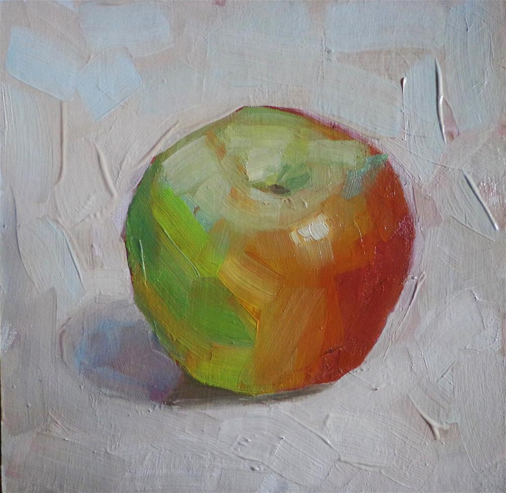 """Just one apple"" original fine art by Maria Z."
