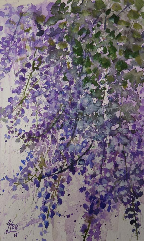 """Wisteria"" original fine art by Martin Stephenson"