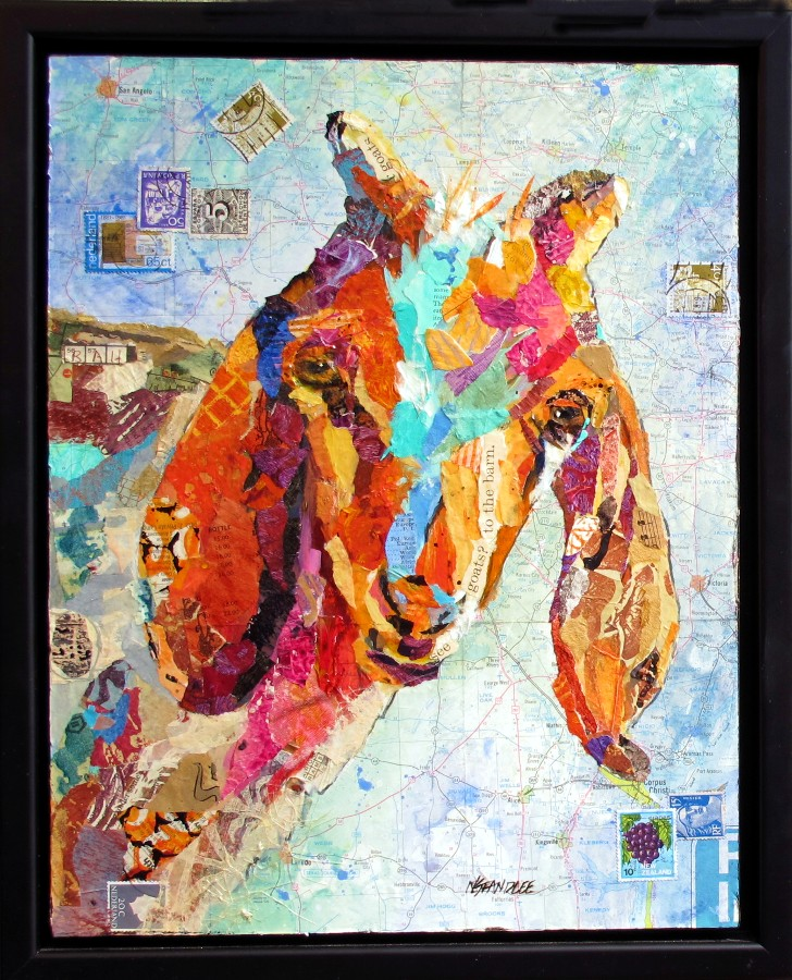 Goats to the Barn 12013 original fine art by Nancy Standlee