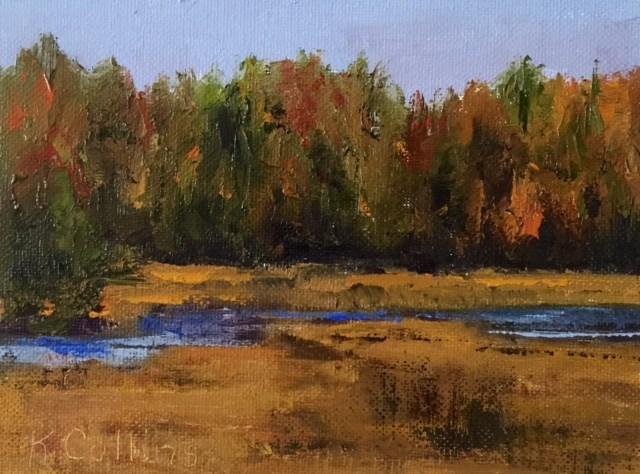 """""""Autumn Vibrations"""" original fine art by Kathy Collins"""