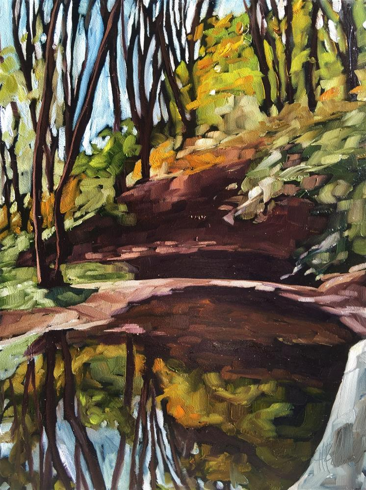 """Carver's Rock"" original fine art by Hallie Kohn"