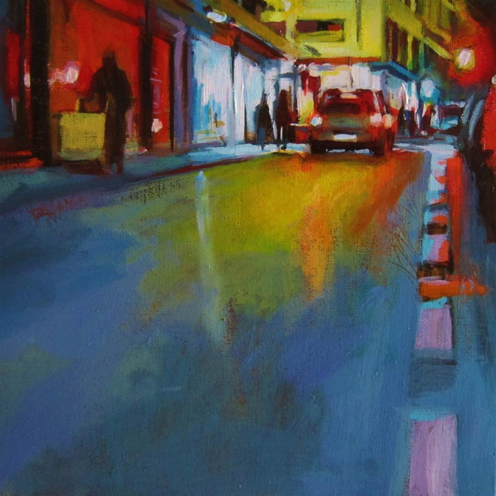 """Nocturne #3, Showcase city"" original fine art by Víctor Tristante"