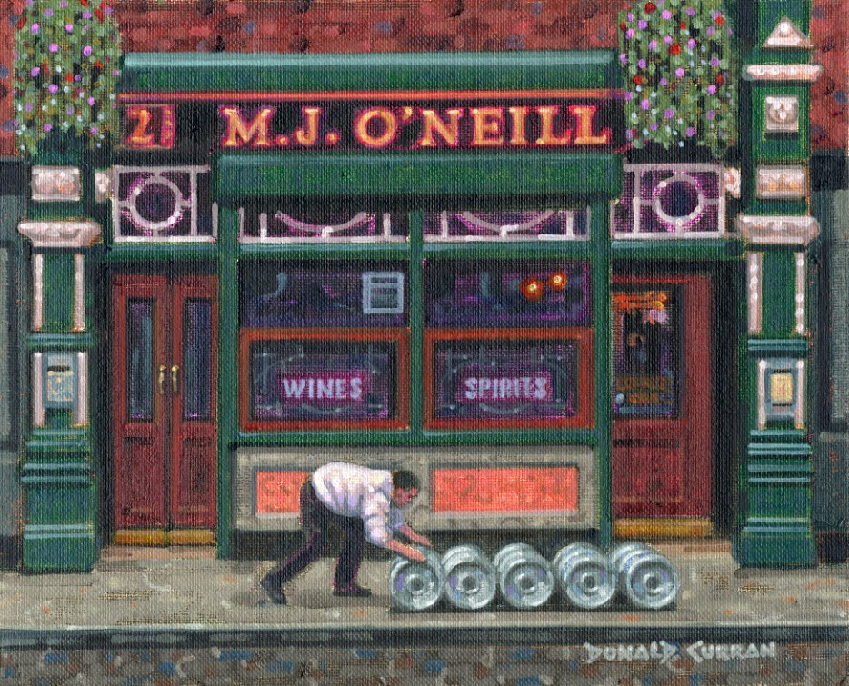 """Roll Out The Barrells"" original fine art by Donald Curran"