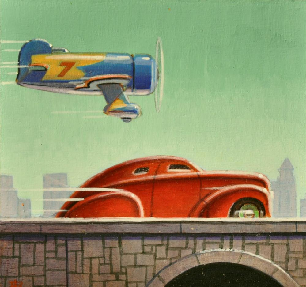 """Traffic"" original fine art by Robert LaDuke"