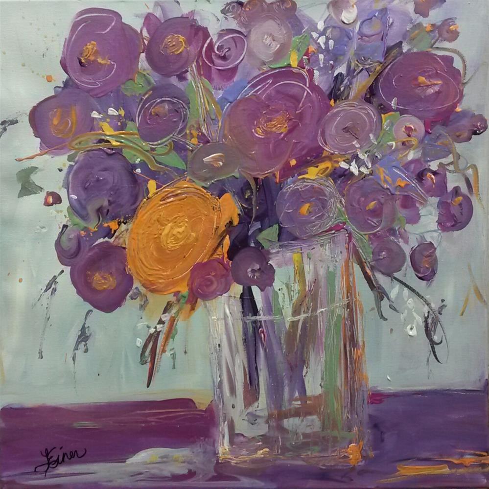 """""""Purple Vase"""" original fine art by Terri Einer"""
