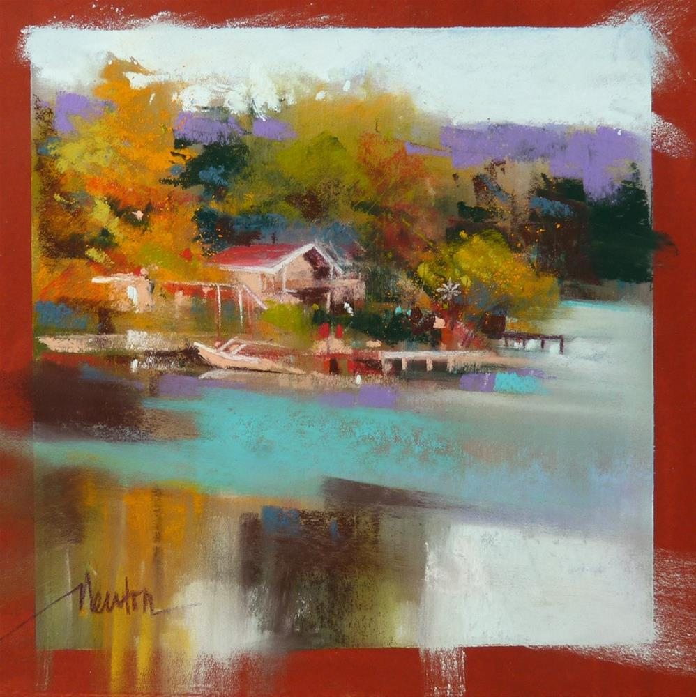 """Lakehouse"" original fine art by Barbara Benedetti Newton"