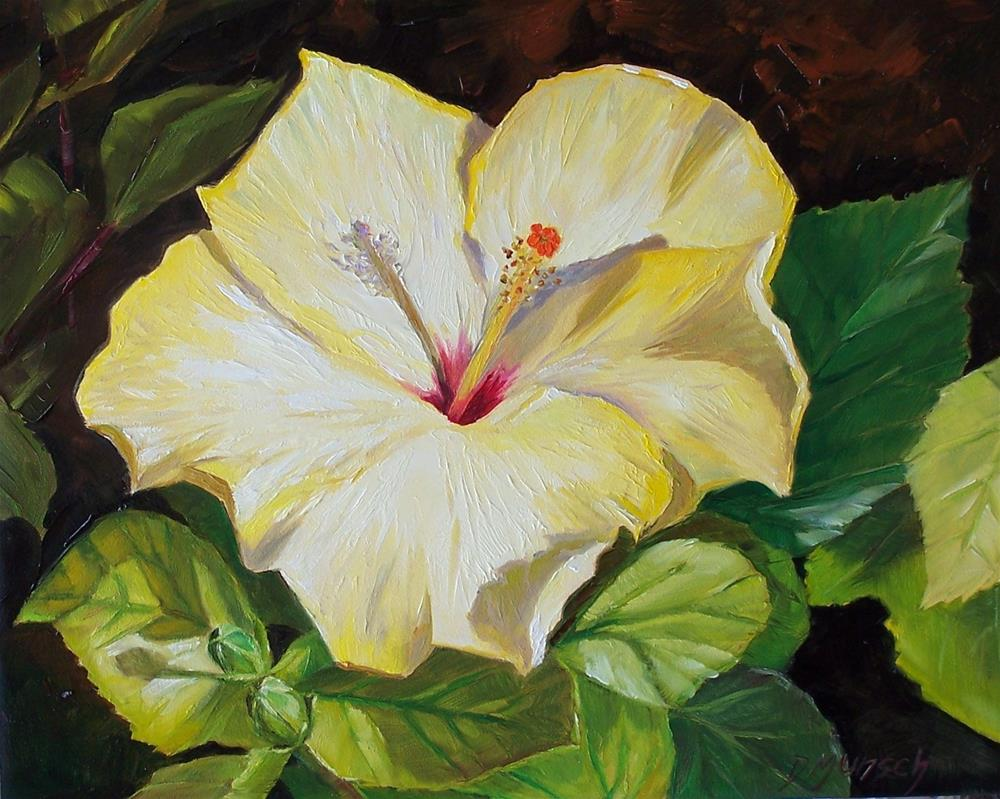 """Yellow Hibiscus"" original fine art by Donna Munsch"