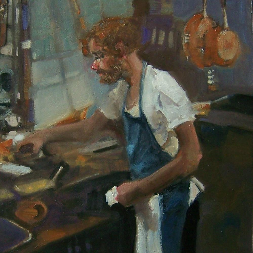 """In The Kitche"" original fine art by Kim Roberti"