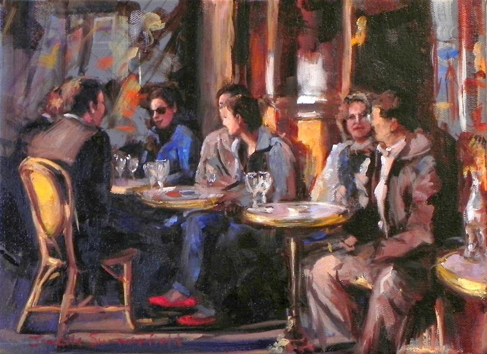 """Cafe in Paris"" original fine art by Jonelle Summerfield"