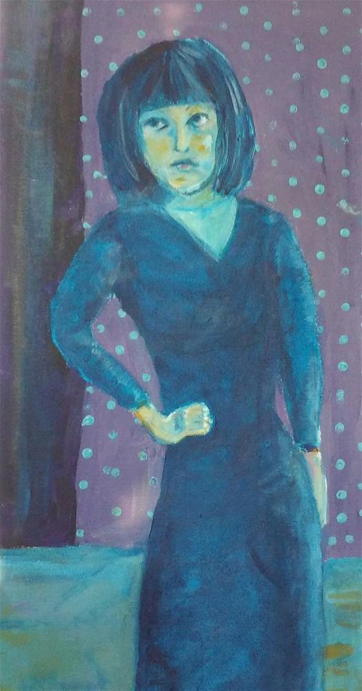 """""""Nina"""" original fine art by Hallie Dozier"""