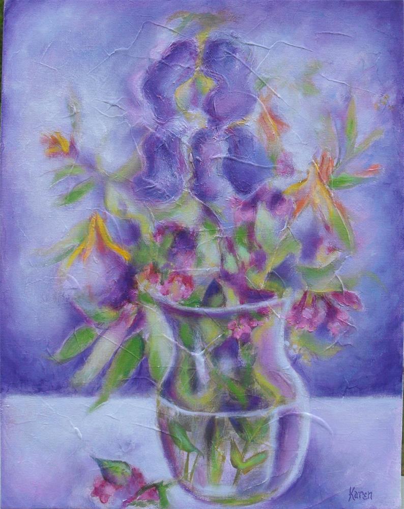 """For the Love of Purple"" original fine art by Karen Roncari"