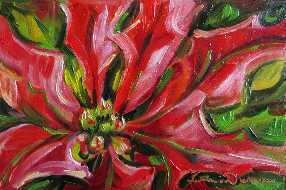 """Splash of Poinsettia"" original fine art by Tammie Dickerson"