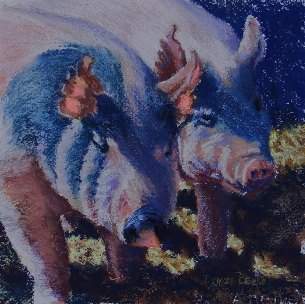 """""""Two Little Pigs, II"""" original fine art by Denise Beard"""