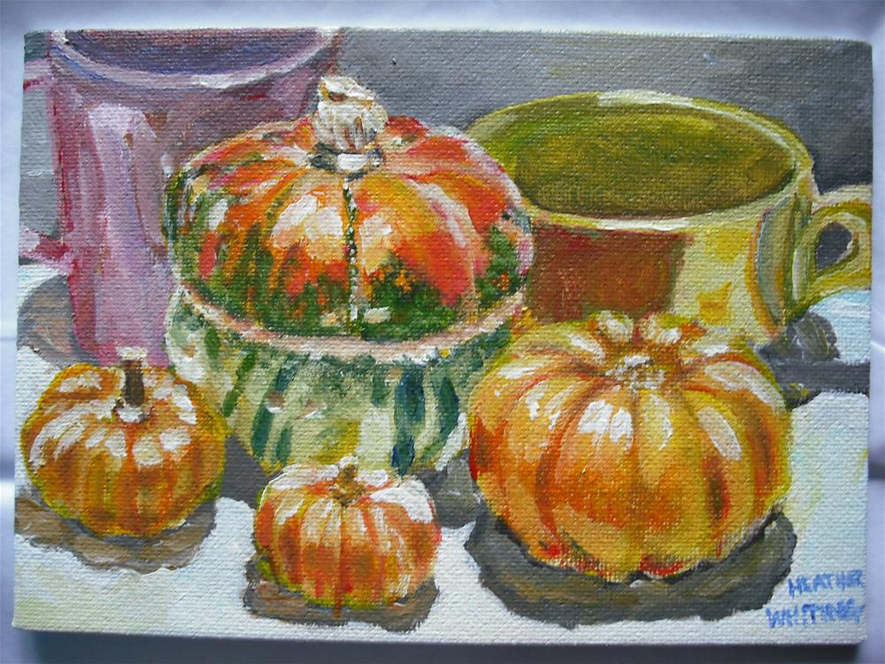 """Squash Family"" original fine art by Heather Whiting"