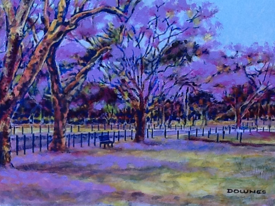 """060 PARKS & GARDENS 15"" original fine art by Trevor Downes"