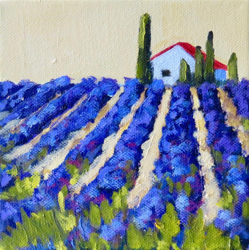 """""""Fields of Lavender """" original fine art by Deborah Czernecky"""