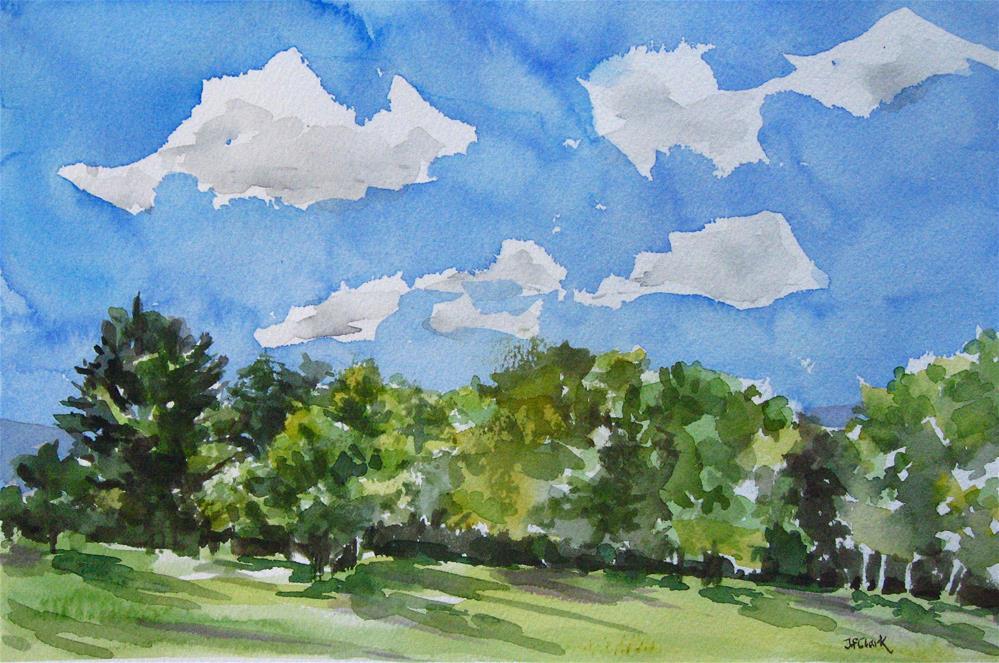 """Summer Scene #2"" original fine art by Judith Freeman Clark"
