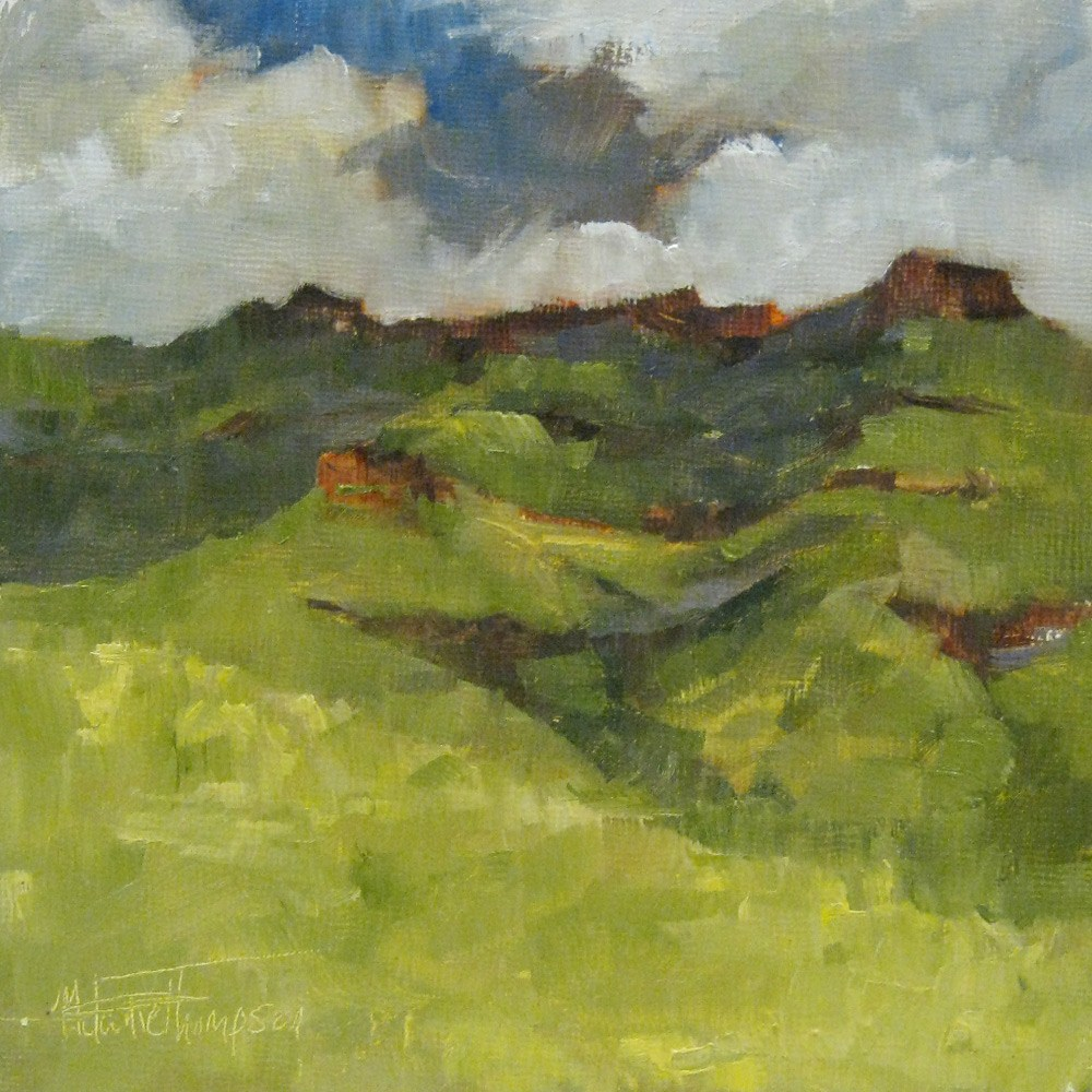 """Wild Horse Butte"" original fine art by Melanie Thompson"