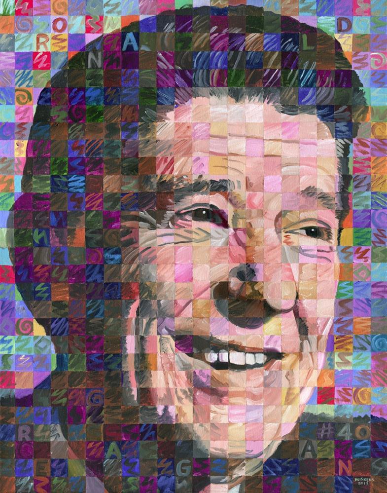 """Ronald Reagan"" original fine art by Randal Huiskens"