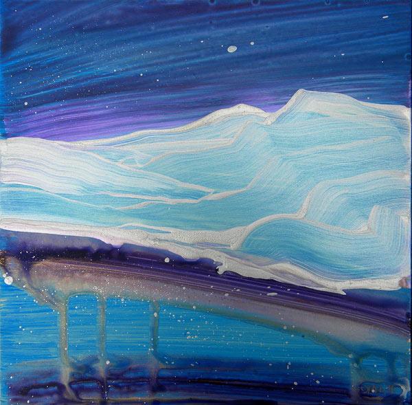 """Arctic Landscape 1"" original fine art by Pam Van Londen"