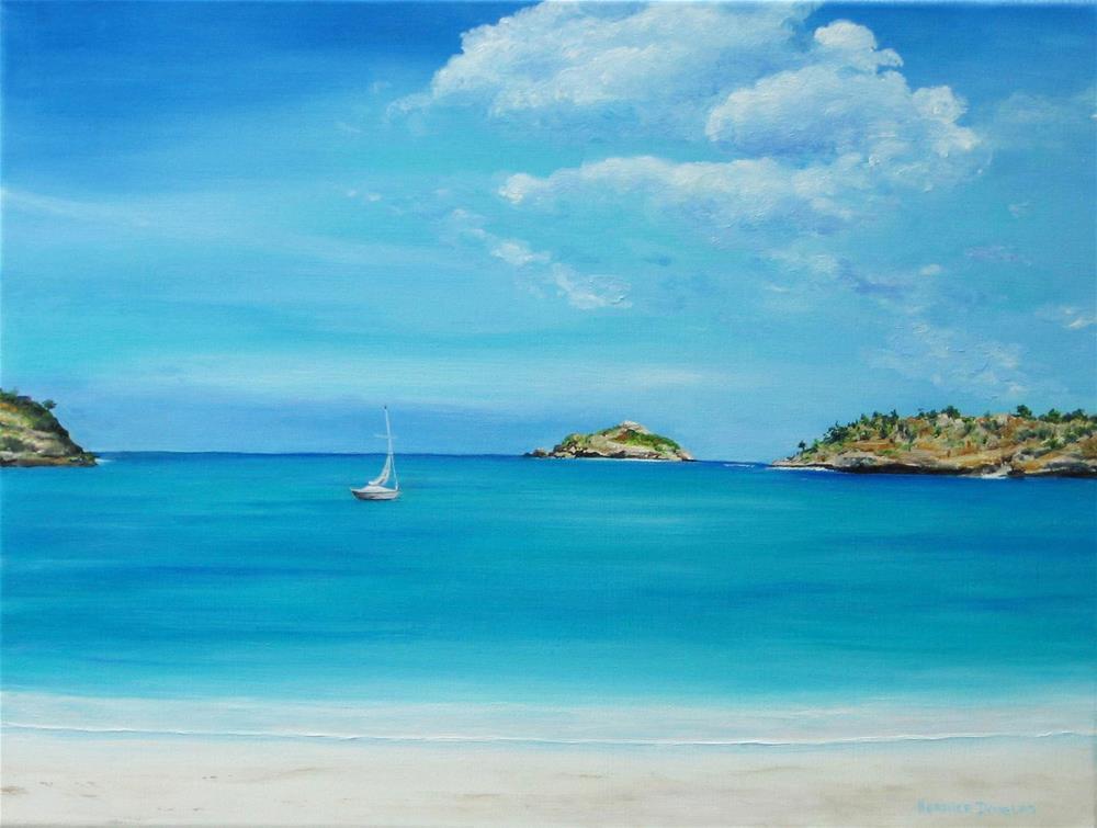 """Deep Bay Antigua"" original fine art by Heather Douglas"
