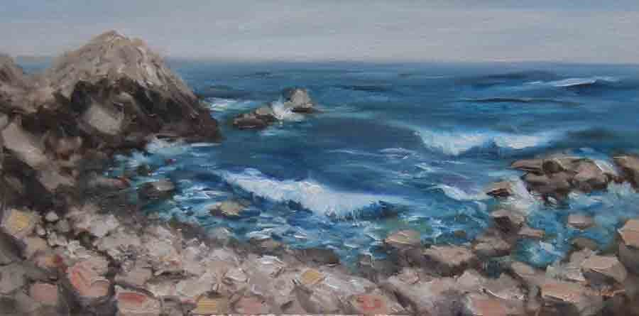 """Rocky Coast"" original fine art by Pat Fiorello"