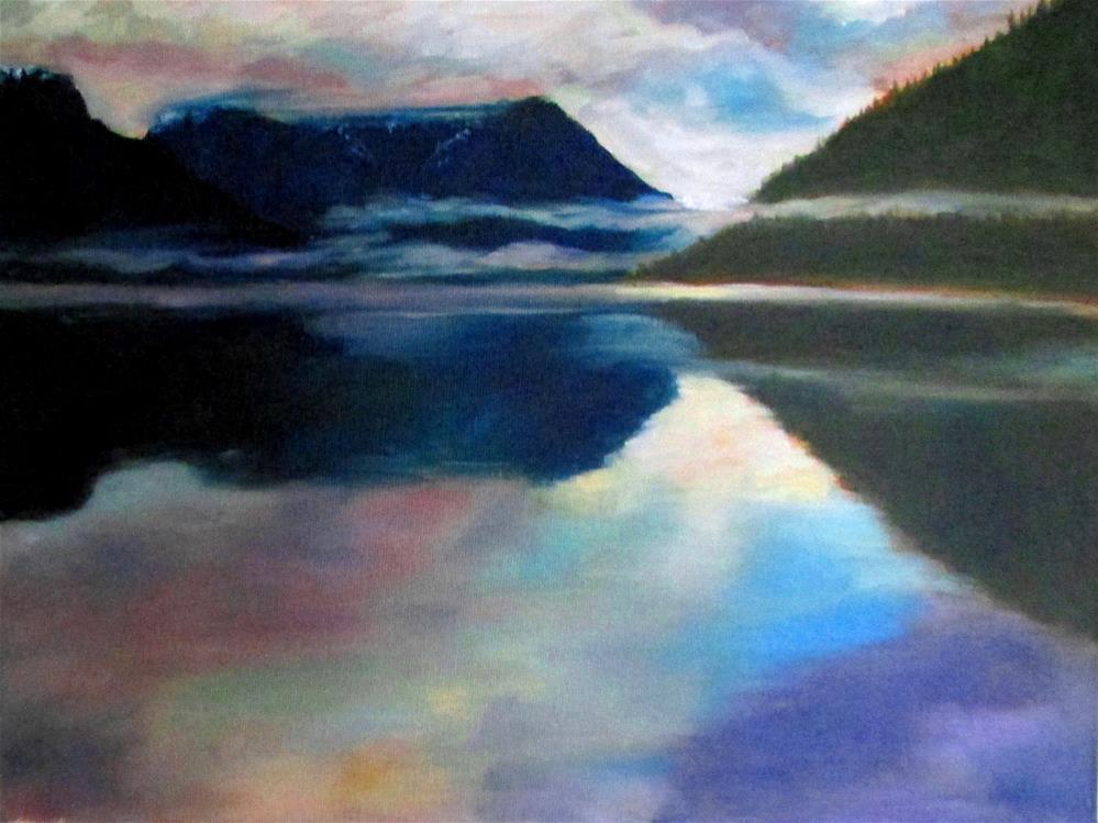 """12 x 16 inch oil Narrows Inlet"" original fine art by Linda Yurgensen"