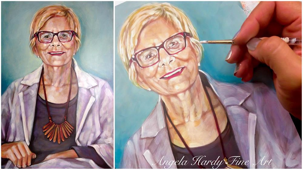 """Order your own portrait commission today."" original fine art by Angela Hardy"