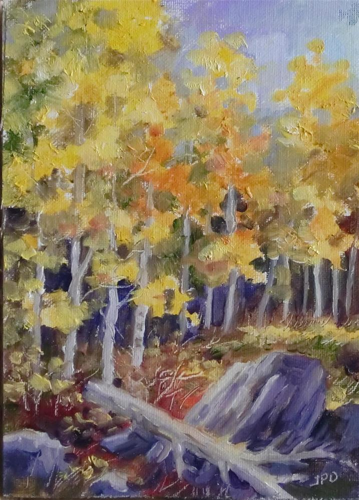 """Fall ASpens"" original fine art by Jean Pierre DeBernay"
