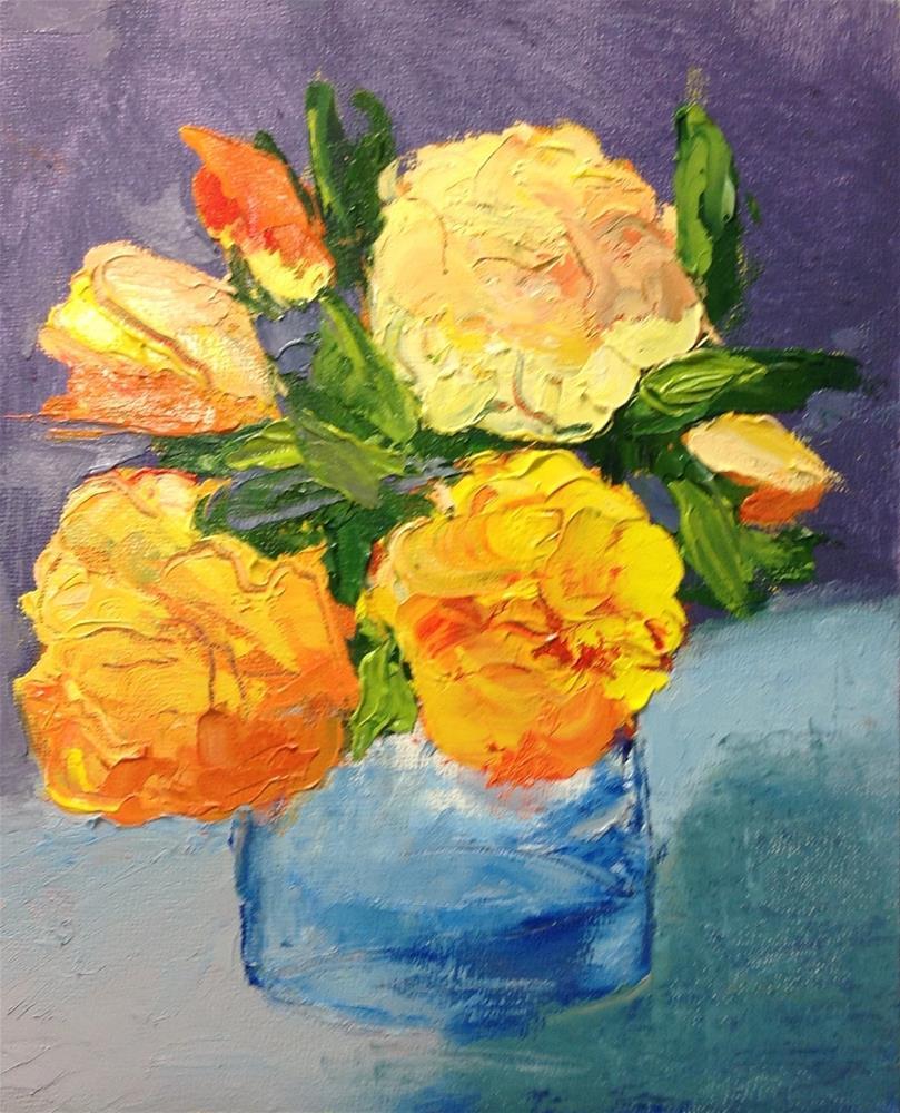 """""""Tiajuana Roses"""" original fine art by Karen Pinard"""