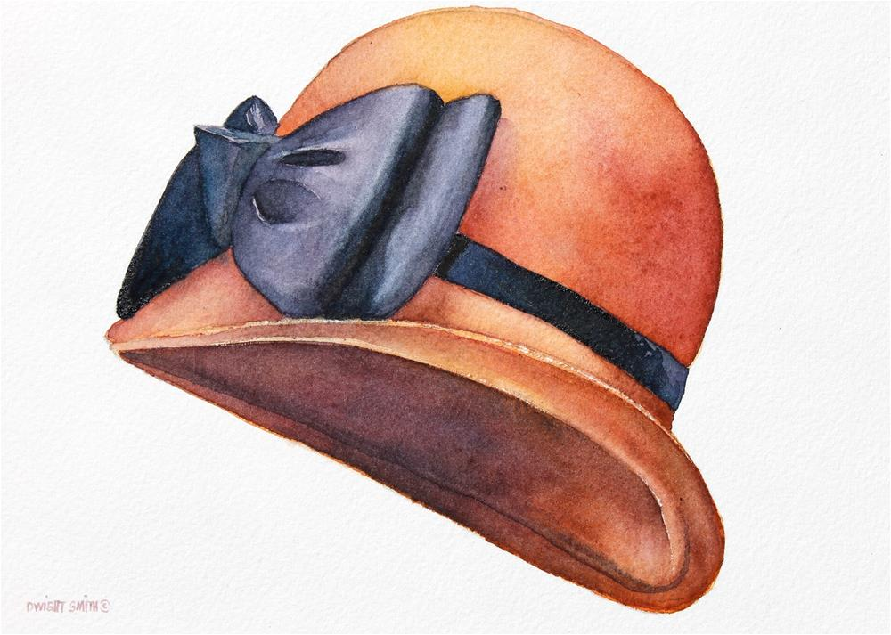 """ SATURDAY AFTERNOON HAT "" original fine art by Dwight Smith"