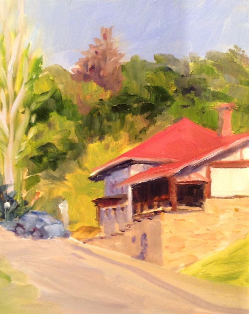 """""""Belmont Station"""" original fine art by Debra Kennedy"""
